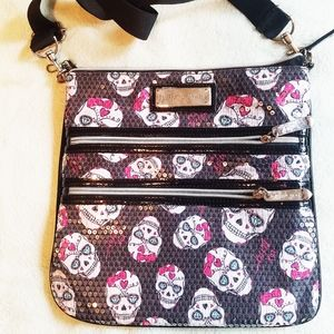 Betsy Johnson Sequin Skull Purse